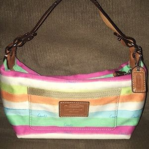 Coach Hampton Watercolor Top Handle Pouch Bag